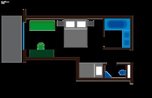 Grundriss Zimmer Wiese