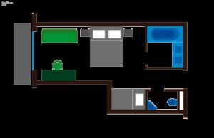 Grundriss Zimmer Enzian