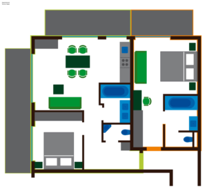 Grundriss Kombi-Apartment Tannenwald
