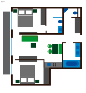 Grundriss Apartment Gemsle
