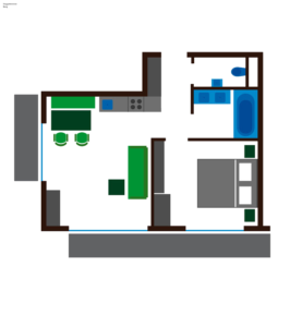 Grundriss Apartment Berg