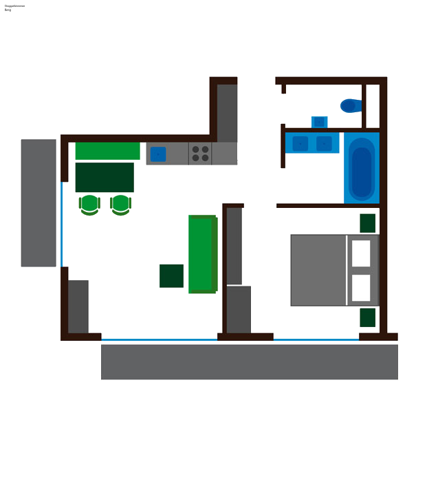 Grundriss Apartment Berg