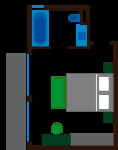 Grundriss Zimmer Brunnen